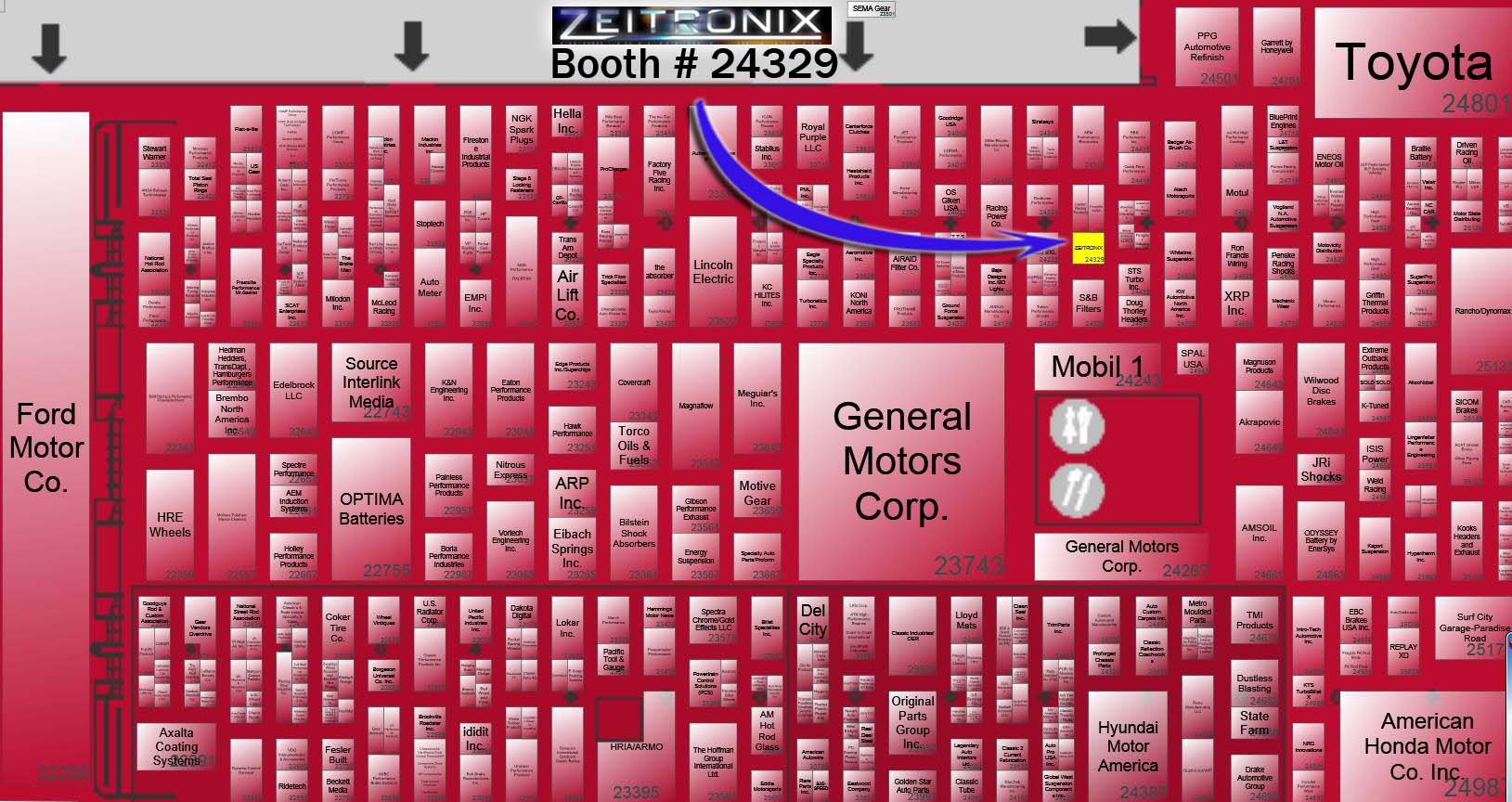 SEMA 2012 Map / Floor Plan Link